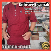 Baju Muslim Kobrave Usamah Koko Kaos Ukuran Jumbo Gamis Kurta Nyaman