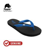 Fipper Comfy / Sendal Jepit Unisex / Black - Blue Snorkel