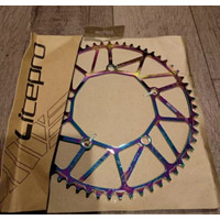 Chainring Litepro Hollow 58T BCD 130mm Warna Rainbow-Chain Ring Sepeda