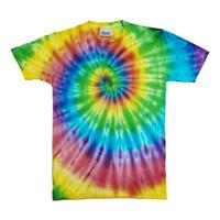 Summr Tie Dye T-Shirt Reactive Rainbow (Kaos Tie Dye, Tie-Dye)