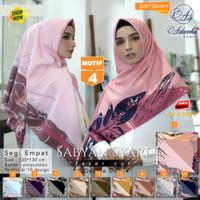 Jilbab Segi empat Jumbo Size Sabyan Syari Luser Cut Doble Side Motif 4