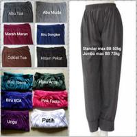 3 Pcs Celana Aladin Panjang Wanita/Dalaman Gamis/Celamis/Celana Tidur - Pilih Warna, Standar