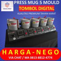 Mesin Press Mug 5 Moulding INNOVATEC Alat Sablon Digital Mug 5in1