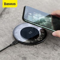 BASEUS Simple Wireless Charger 15W Pad Fast Charging Samsung Iphone