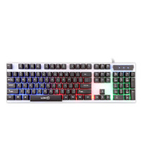 Gaming Keyboard RGB LED - R260 - Black White