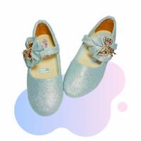 Sepatu Pesta Anak Perempuan Heels Metalik Pita Hak Murah Lokal SAP27