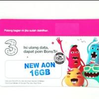 VOUCHER PAKET DATA TRI NEW AON 16 GB (THREE INTERNET 16GB JABODETABEK)