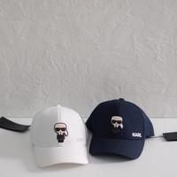 Karl lagerfeld Karlito Baseball Cap (unisex) White & Navy - Putih