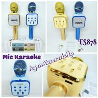 DS878 MIC Karaoke Bluetooth Hand Held Wireless Microphone HiFi Speaker