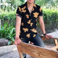 Kemeja Pria Lengan Pendek Fashion Cowok Motif Kemeja Pantai