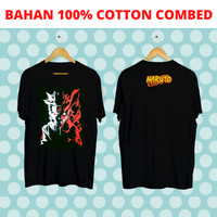KAOS PRIA NARUTO RED SHADOW BLACK