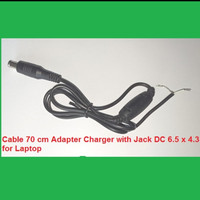 Cable 70 cm Adapter Charger with Jack DC 6.5 x 4.3 for Laptop