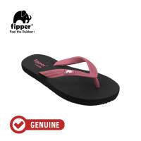 Fipper Comfy / Sendal Jepit Unisex / Black - Maroon