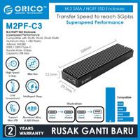 Casing ORICO M.2 SATA NGFF SSD Enclosure M2PF-C3