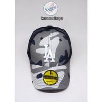 topi baseball LA dodgers camouflage jaring import UNISEX ( FREE BOX )