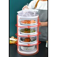 Multi-layer Rak plastik penyimpanan tempat makanan penutup tudung saji