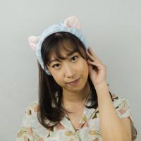 HEADBAND HAIRBAND BANDANA BANDO KOREA MOTIF CUTE CAT EAR BLUDRU COLOR