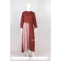 Gamis Dress Toyobo Terracota Mocca Kotak Busui Syari Butik ModernMurah