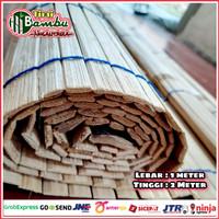 Tirai krey bambu ati size L-1m x T-2m