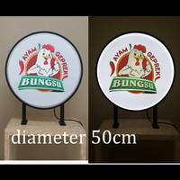 Neon Box Bulat 2 Sisi / Capsule Light RF80VF-2s 50cm + Printing