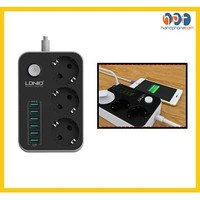 Travel Adapter Charger LDNIO SE3631 5V 3.4A 3 Power Socket 6 Port Usb