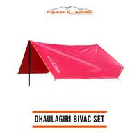 Bivak set flysheet 3x4 dhaulagiri lengkap tiang dan pasak not eiger
