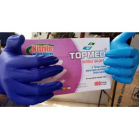 nitrile hand gloves isi 50 pasang - S