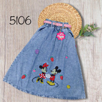 NomenaKids ~ 5106 Rok panjang jeans Gambar Usap anak perempuan