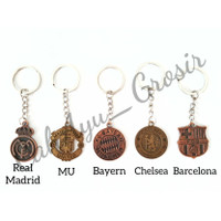 Gantungan Kunci Sepak Bola / Football Club MU Barcelona Bayern Madrid