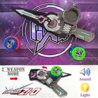 2IN1 KAMEN RIDER ZI-O WEAPON LIGHT & SOUND EFFECT - PEDANG SUPERHERO