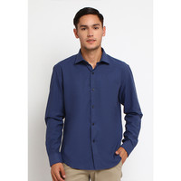 CROW KIRIN Dark Blue Oxford Shirt Long Sleeves / Kemeja Oxford - S