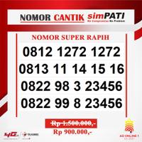 Nomor Cantik Simpati Telkomsel AS SUPER cantik Urut Rapih AAAABBBB