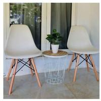 kursi kerja / kursi santai minimalis - Putih