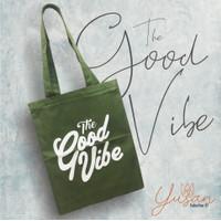 """Tote bag Good Vibe"""" / Bahan Dinir / Sleting / Tas Pria dan wanita"""