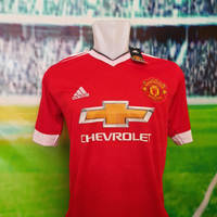 baju jersey import manchester united, Merah-M