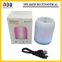 Speaker Wireless Bluetooth A1 - Musik Box Speaker Bluetooth LED Light