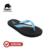 Fipper Comfy / Sendal Jepit Unisex / Black - Blue Sky