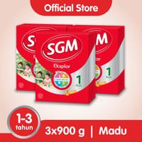 Paket 3 - SGM Eksplor 1 Plus Susu Pertumbuhan 1-3 Thn Madu 900g