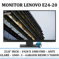 "Monitor Lenovo Thinkvision E24-20 23.8"" 1920 X 1080 FHD"