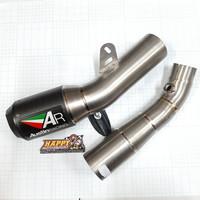 Knalpot AUSTIN RACING Kawasaki ZX10R 2011-2019 GP1R Black Tip/Carbon