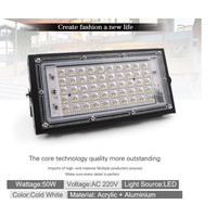 LAMPU SOROT LED tembak slim SMD 50w 50 watt floodlig -YOYOSOO
