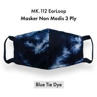 Masker Kain Non Medis / Masker Motif TIE DYE Masker 3 ply - EARLOOP - MK112