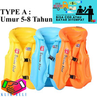 Pelampung Rompi A Jaket Ban Renang Anak 5-8 Tahun Swim Vest Size XL