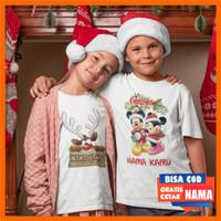 Baju Kaos Anak Tema Natal Christmas Gratis Tulis Custom Nama