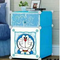 Nakas Doraemon Lemari Pakaian 2 Tingkat Nakas Kartun Doraemon Lipat