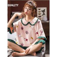 Baju Tidur Wanita Setelan Celana Pendek Piyama Import piyama big size