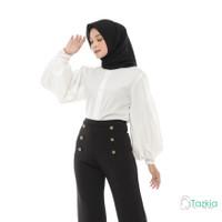 Atasan Muslim Wanita | Alexa Baloon Top White | S M L XL | Original