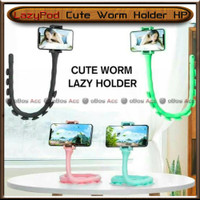 LazyPod Cute Worm Holder HP Lazy Gurita Flexible MultiFungsi