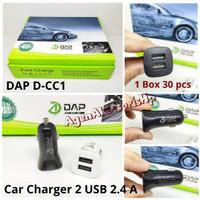 DAP D-CC1 Mini Car Charger 2 USB 2.4A Fast Charge Saver Mobil DualPort