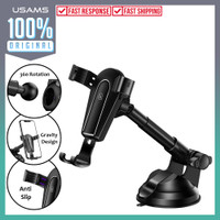 Car Holder Usams Metal Stretchable Gravity Mount Phone Hp Stand Mobil